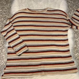 Ginger G soft striped sweater size medium GUC